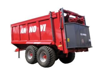 Remorcă pentru împrăștiat gunoi, cu role, F.lli Annovi RS 140P Largo
