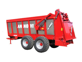 Remorcă pentru împrăștiat gunoi, cu role, F.lli Annovi RS 140P